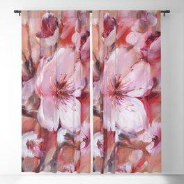 Almonds blossom handmade painting Blackout Curtain