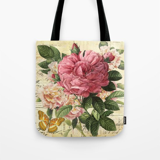 Vintage flowers #28 Tote Bag