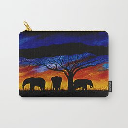 Sunset Elephants Carry-All Pouch