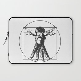 Vitruvian with spacer flair on white Laptop Sleeve