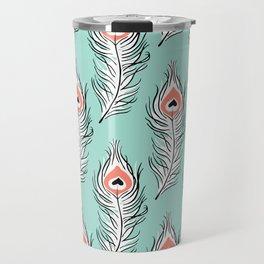 Peaceful Peacock Travel Mug
