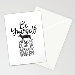 Be Yourself Daschund Stationery Cards