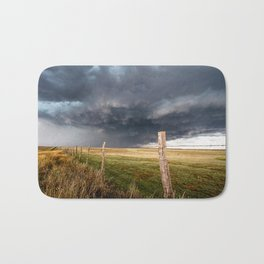 Soft - Storm Along Fence Line in Texas Panhandle Bath Mat
