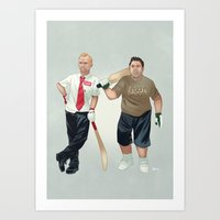 shaun of the dead Art Prints featuring Shaun of the Dead by Dave Collinson
