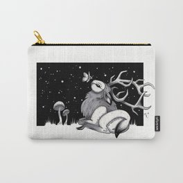 Owl Elk and Moth - Copics and Ink Carry-All Pouch