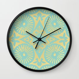 eau de nil flowerpower series Wall Clock