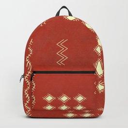 Burnt Orange Tribal rug Backpack