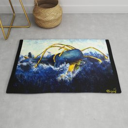 Whale vs Colossal Squid Rug