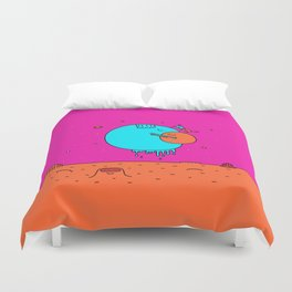 Happy Planets Duvet Cover