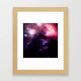 Galaxy : Pleiades Star Cluster nebUlA Purple Pink Framed Art Print