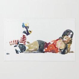 Roller Derby Girl Rug