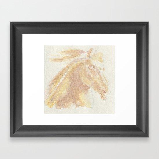 Horse Aquarelle Framed Art Print