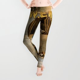 Vintage Richard III Theatre Poster Leggings
