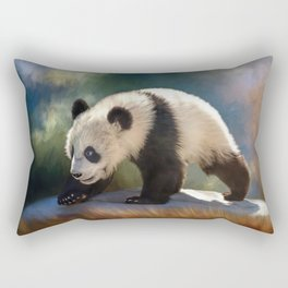 Cute panda bear baby Rectangular Pillow