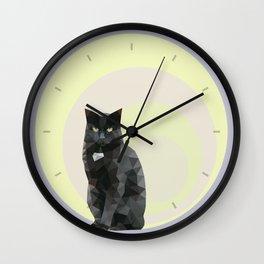 """Resting bitch face"" cat Wall Clock"