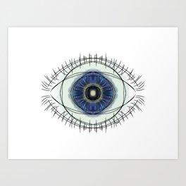seeing blue Art Print