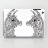 llama iPad Cases featuring Llama by Olya Goloveshkina