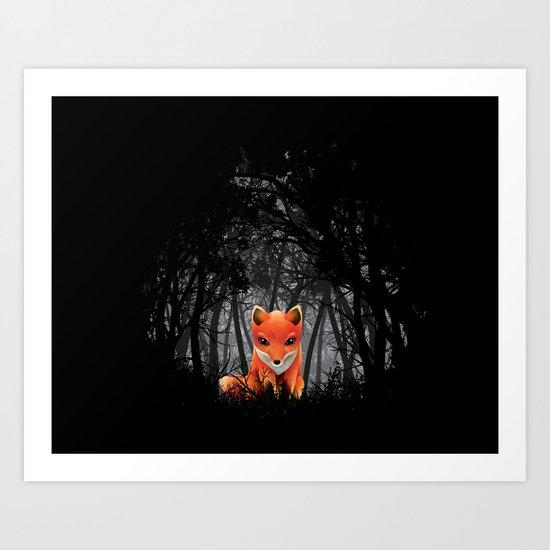 Vulpes Vulpes  at  Night Art Print