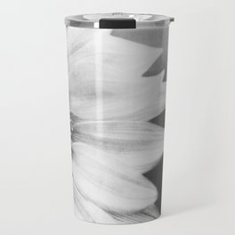 B&W Sunflower Travel Mug