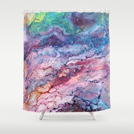 Rainbow Dream Groovy Flow #22 Shower Curtain