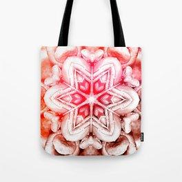 Tie-Dye Rose Ornament Tote Bag