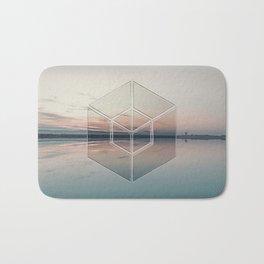 Tranquil Landscape Geometry Bath Mat