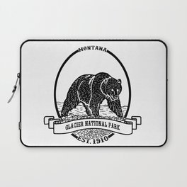 Glacier National Park Emblem Laptop Sleeve