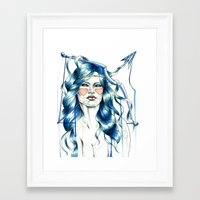 "sagittarius Framed Art Prints featuring ""Sagittarius"" by Mia Desu"