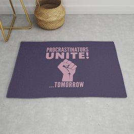 Procrastinators Unite Tomorrow (Purple) Rug