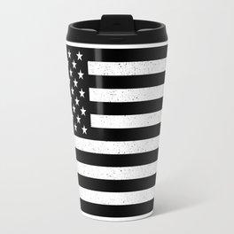 USA flag - HiDef Super Grunge Patina Travel Mug
