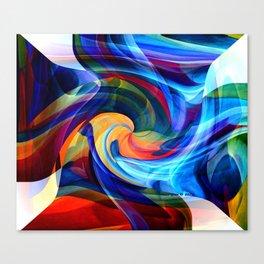 This Kiss Digital Abstract Art By Annie Zeno Canvas Print