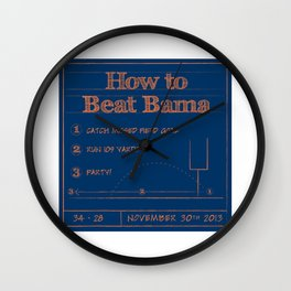 How to beat Bama Wall Clock