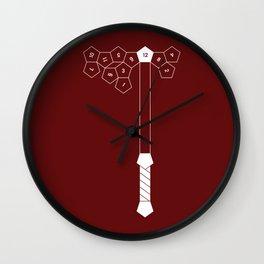 Dwarven Battle Axe Wall Clock