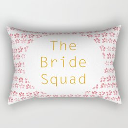 The Bride Squad - watercolour lettering Rectangular Pillow