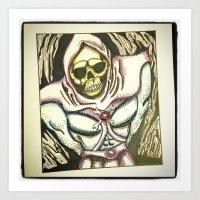 skeletor Art Prints featuring skeletor by JaclynGarrett