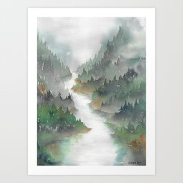 Above the Cedars Art Print