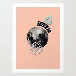 Party Moon Art Print