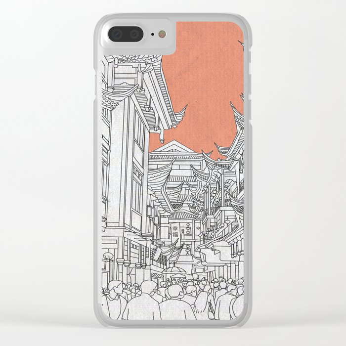 Street in China Clear iPhone Case