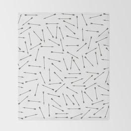 Arrow vintage pattern Throw Blanket