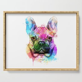 French bulldog Watercolor Serving Tray