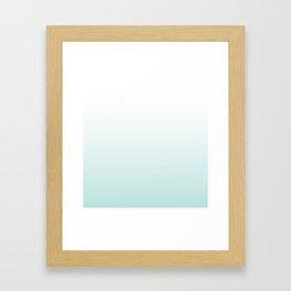 Island Blue Ombre Framed Art Print