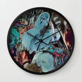 A Fathers Kiss Wall Clock