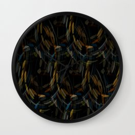 Ropes of Subtle Color Wall Clock