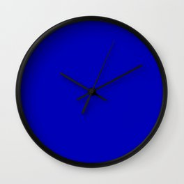 royal blue solid (matches BARGE design) Wall Clock
