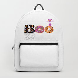 Halloween Boo Text Cute Design Great Gift Backpack