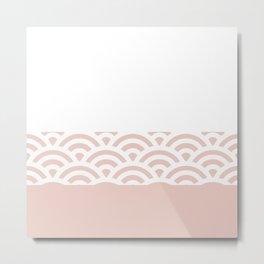 Rainbow Trim Pastel Pink Metal Print