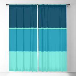 An attractive association of Ice, Sky Blue (Crayola), Water Blue and Marine Blue stripes. Blackout Curtain