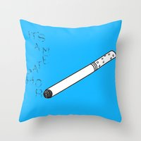 tfios Throw Pillows featuring TFIOS It's a Metaphor Smoke by All Things M