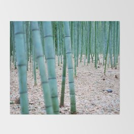 The Bamboo Grove, Arashiyama, Kyoto Throw Blanket