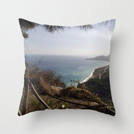 Taormina Bay - Sicily Throw Pillow